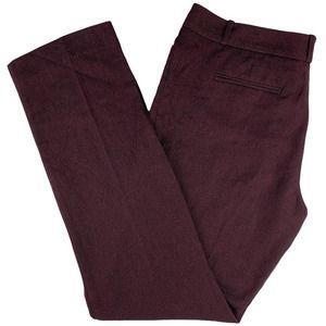 The Limited Maroon Herringbone Tweed Drew-Fit Pant
